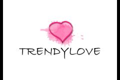 עיצוב לוגו לב ורוד עבור רשת אופנה טרנדי-לאב