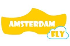 עיצוב גרפי של הלוגו של אמסטרדם פליי אתר טיסות לאמסטרדם