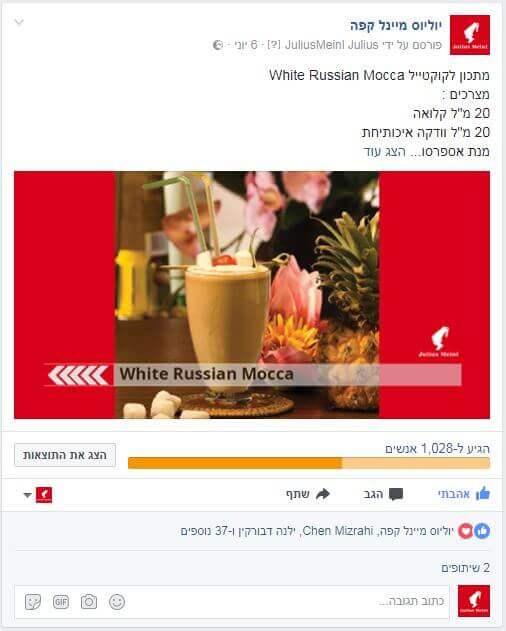 פוסטים לפייסבוק יוליוס מיינל