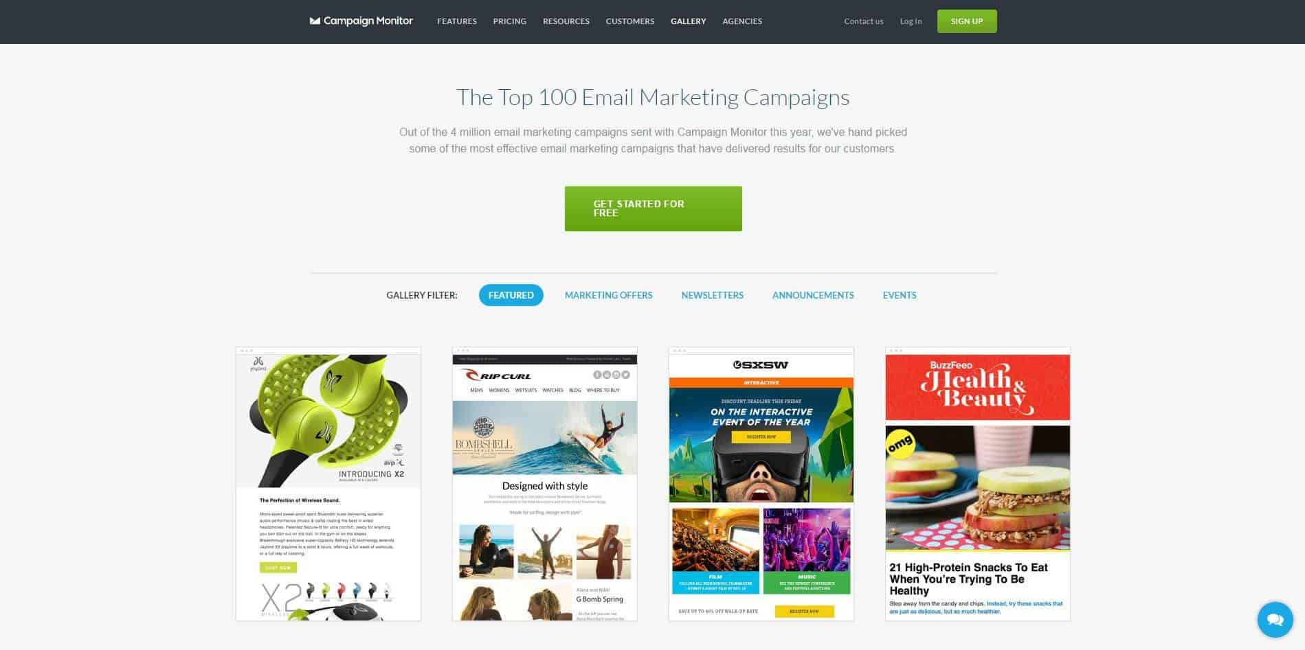the top 100 email m